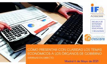Webinar en directo sobre economía de la Fundación Acrescere