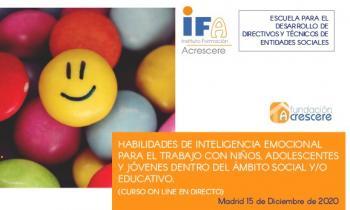 """Curso """"Habilidades de inteligencia emocional para el trabajo con niños, adolescentes y jóvenes dentro del ámbito social y/ educativo"""""""