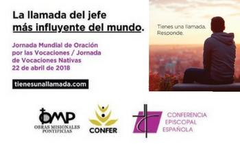 El próximo 22 de abril la Iglesia española celebra la Jornada conjunta de  Oración por las Vocaciones y la de Vocaciones Nativas