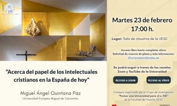 La Universidad San Dámaso organiza un coloquio sobre los intelectuales cristianos en la España de hoy