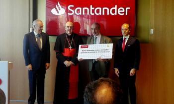 Santander entrega a la Confer 515.000 euros para proyectos de formación de colectivos vulnerables y orientación al empleo
