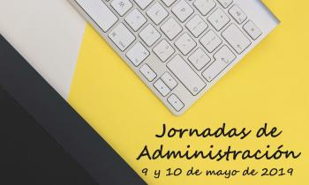 Foto Díptico Jornadas Administración mayo 2019