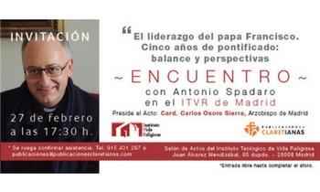 """Publicaciones Claretianas y el ITVR organizan un encuentro con el P. Antonio Spadaro SJ para presentar el libro """"En tus ojos está mi palabra"""""""