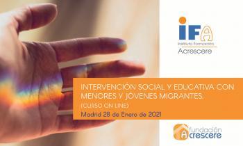 """Taller """"Intervención social y educativa con menores y jóvenes migrantes"""""""
