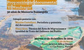 """Proyección del documental """"El Naufragio"""""""