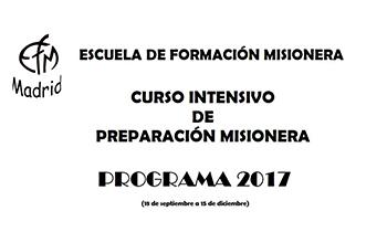 La Escuela de Formación Misionera presenta su programación para 2017-2018