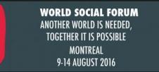 Foro Social Canadá 2016